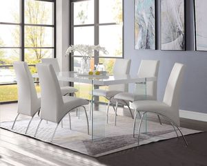 FREE DELIVERY Noland white contemporary dining table acrylic legs for Sale in Miami, FL