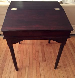 Mahogany Flip-Top Desk Brass Hinges for Sale in Crofton, MD