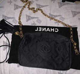 Auth CHANEL CC Fringe Mini Chain Shoulder Bag Black Vintage for Sale in Rancho Cucamonga,  CA