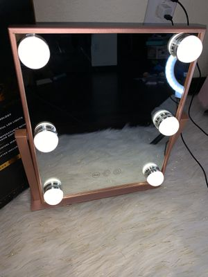 Impressions Vanity Rose Gold Hollywood LED Mirror for Sale in El Paso, TX