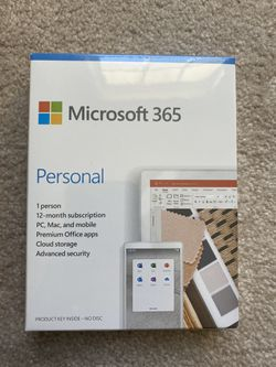 Microsoft 365 Personal 1-Year Subscription for PC, Mac, iOS and Android, 1-User License, Key Card for Sale in Dallas,  GA