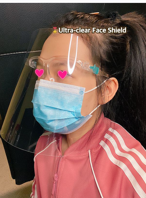Set of 3 face shields with 1 eye frame glasses[Best deal]