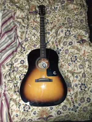 Epiphone acoustic guitar with pack of strings for Sale in Parma, OH