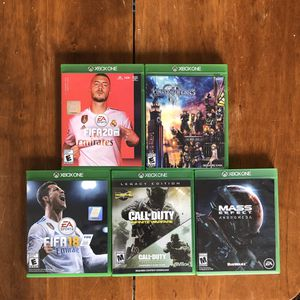 Xbox One Lot of Games (FIFA 20, Kingdom Hearts 3, Call of Duty Infinite Warfare, Mass Effect Andromeda, FIFA 18) for Sale in Alexandria, VA