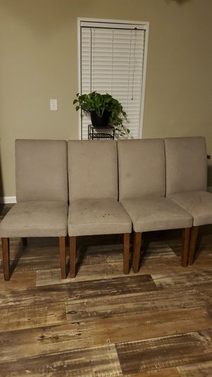 Set of 4 chairs with dining table for Sale in Tyrone, GA