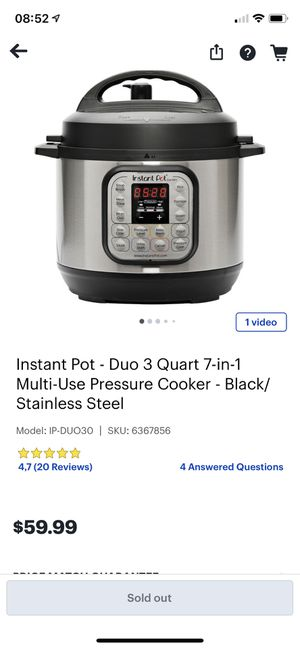 Instant pot mini used once for Sale in Falls Church, VA