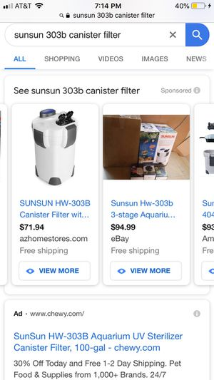 SunSun HW 303B canister filter for Sale in Conroe, TX