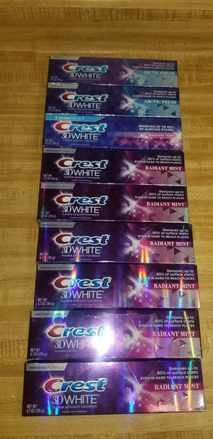 Crest 3D white toothpaste 4.1oz $1.75 each firm price( only 9 available) for Sale in Ontario, CA