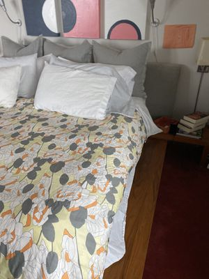 Bo Concept king sized bed with drawers and bedside tables. Does not include mattress or pillows. Includes Bed only. for Sale in Boston, MA
