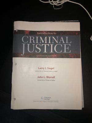 Introduction to Criminal Justice 16th edition for Sale in Fairfax, VA