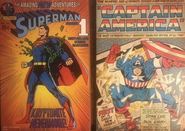 (6) Comic Book character wood & metal plaques