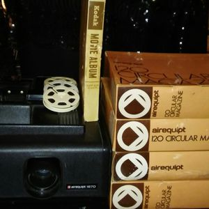 Airquipt Slide Projector/Kodak 8mm Movie Reels PKG Deal for Sale in Alexandria, LA