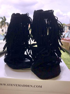 Black fringed pumps my personal shoes for Sale in Miami, FL