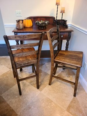 "Bar Stools ""2 Classic Wooden"" freshly stained stools. Low sitting, as seat sits 24 inches from the floor for Sale in Orlando, FL"