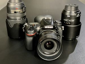 Nikon 7200 with 3 lenses and bag for Sale in Mesquite, TX