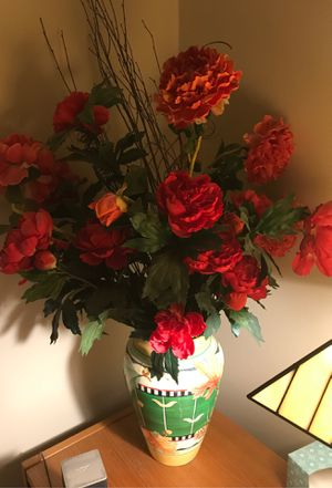 Vase and flowers imatation for Sale in Westerville, OH