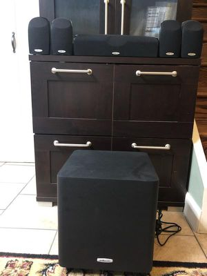 Polk Audio TL1600 Home Theater Speakers with Subwoofer for Sale in Mount Prospect, IL