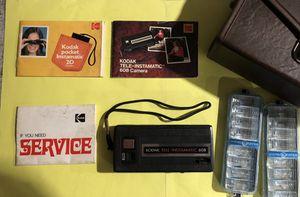 Kodak Tele-Instamatic 608 Camera w/Case, Inserts & Flash Bulbs VINTAGE 1970s for Sale in Harmony, PA