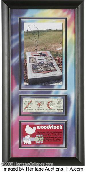 Original woodstock unused 3 day ticket im frame for Sale in San Diego, CA