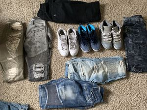 Jeans and retro Jordan's for Sale in Hayward, CA