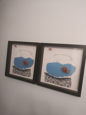 Ikea Olunda Goldfish In Fish Bowl Print for Sale in Gaithersburg, MD