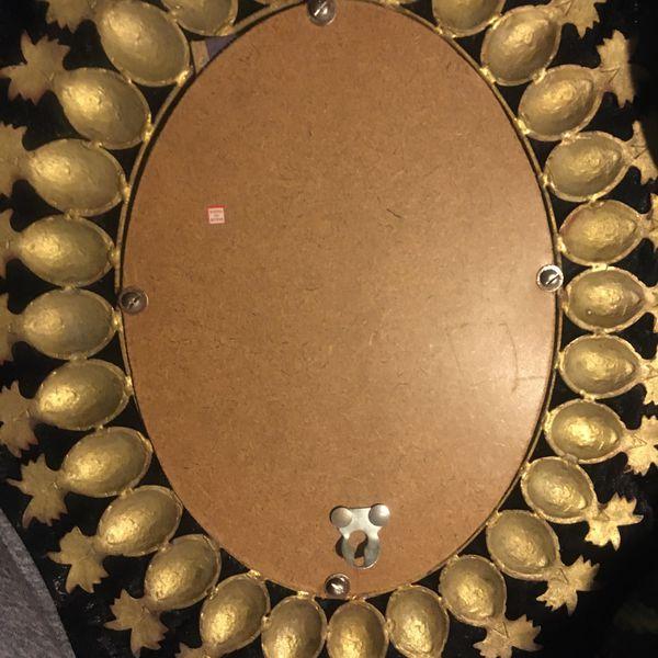 Vintage Brass Pineapple Mirror