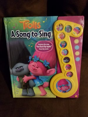 LARGE SIZE TROLLS MUSICAL BOOK for Sale in Alameda, CA