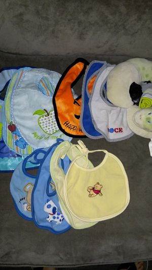 Baby bibs, socks, neck pillow for Sale in Lincoln Acres, CA