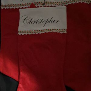Christmas Stocking Name,picture,characters $10 Each for Sale in Highland, CA
