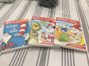 Dr. Seuss kids DVDs lot of 3. Green eggs and ham, The Cat in the hat, The Grinch Grinches The Cat in the hat for Sale in Anaheim, CA