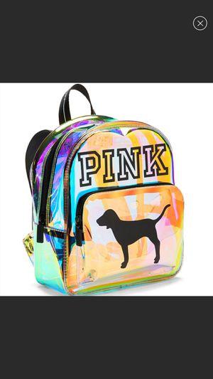PINK VS Mini Shine Iridescent Backpack for Sale in Escondido, CA