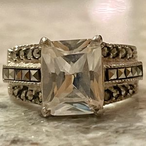 925 Silver Marcasite Ring CZ Stone for Sale in Phoenix, AZ