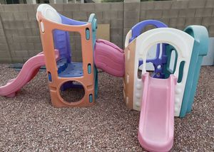 Little tikes 8 in 1 playground slides for Sale in Peoria, AZ