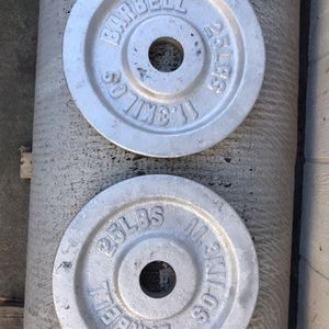Pair 25 lbs Olympic Weight plates for Sale in Sacramento, CA