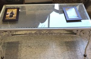 White wrought iron coffee table for Sale in Frederick, MD