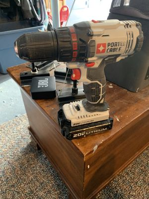 Porter cable 20 v drill with 2 batteries and charger for Sale in East Granby, CT