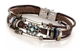 (Shipped Only) Multiple Layers Leather Bracelet For Women/Men for Sale in Wichita, KS
