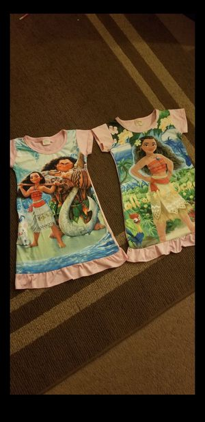Moana night gowns for Sale in San Antonio, TX