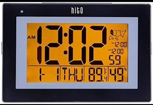 "hito 9.5"" Large Digital Battery Atomic Alarm Clock Desk Wall Clock Self Setting Dual Alarm for Sale in Fontana, CA"