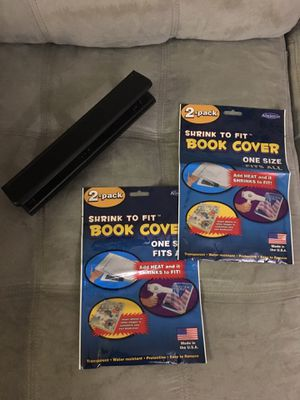 Hole puncher and book covers for Sale in Milton, FL