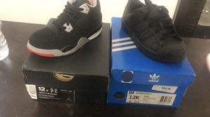 "Retro 4 ""Breds"" and Adidas shell toes for Sale in Atlanta, GA"