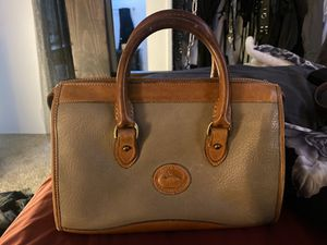 Speedy Vintage 1980's Style Designer Dooney & Bourke Taupe Tote for Sale in Campbell, CA