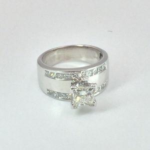 1.21 ct Princess Cut Diamond Engagement Ring - 14k white Gold for Sale in Atlanta, GA
