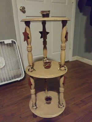 Rustic star decor wooden end table for Sale in Covington, VA