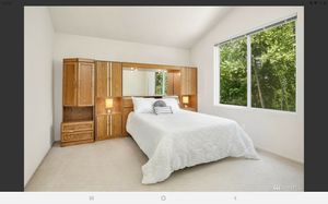Wooden closet/mirror set for bedroom for Sale in Kent, WA
