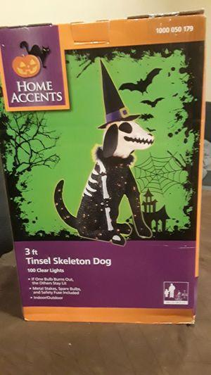 Tinsel skeleton dog 3 feet for Sale in Pembroke Pines, FL