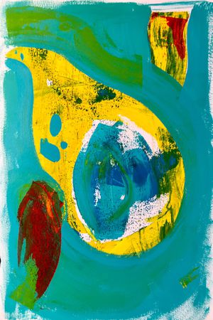 Original Art 'Tropical Migration' Abstract Painting for Sale in Long Beach, CA