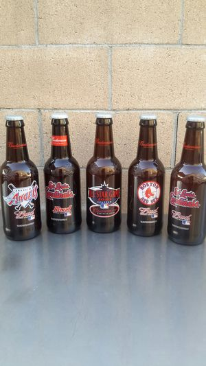 BUDWEISER COLLECTIBLE GLASS BOTTLES. ( ALSO PLENTY OF NEON SIGNS / LIGHTS AVAILABLE FOR SALE ). for Sale in Los Angeles, CA
