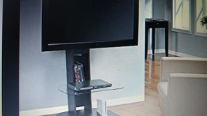 """Ameriwood Home Galaxy TV Stand with Mount TVs up to 50"""", Black for Sale in Indianapolis, IN"""