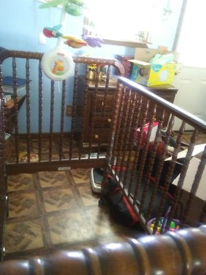 Jenny Lind Crib with Mobile for Sale in Exchange, WV